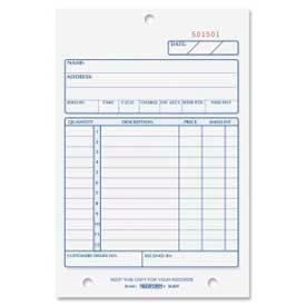 "Rediform® Sales Book, 2-Part, Carbonless, 4-1/4"" x 6-3/8"", 50 Sets/Book"