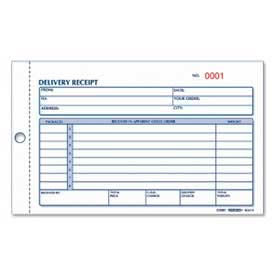"Rediform® Delivery Receipt Book, 2-Part, Carbonless, 4-1/4"" x 6-3/8"", 50 Sets/Book"
