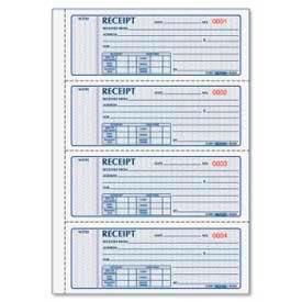 "Rediform® Money Receipt Book, 3-Part, Carbonless, 2-3/4"" x 7"", 100 Sets/Book"