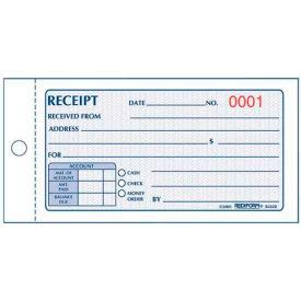 "Rediform® Money Receipt Book, 2-Part, Carbonless, 2-3/4"" x 5"", 50 Sets/Book"