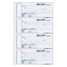 "Rediform® Money Receipt Book, 3-Part, Carbonless, 2-3/4"" x 6-7/8"", 200 Sets/Book"