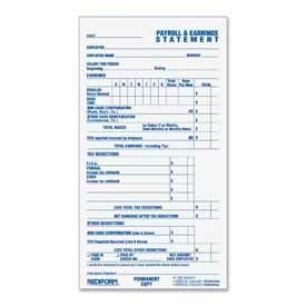 """Rediform® Pay and Earnings Book, 2-Part, Carbonless, 3-3/4"""" x 6-7/8"""", 55 Sets/Book"""