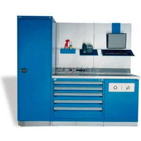"Rousseau Metal GT Workcenter GT-C1034S_071, One Tool Box, 84""W, Light Gray"