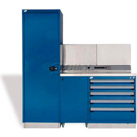 """Rousseau Metal GT Workcenter GT-C1045S_560, One Tool Box, 72""""W, Glossy Sapphire Blue"""