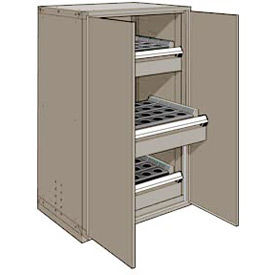 """3 Drawer Tool Storage Cabinet for Taper 40 - 36""""Wx24""""Dx60""""H Light Gray"""