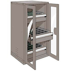 """3 Drawer Tool Storage Cabinet for HSK 50 - 30""""Wx27""""Dx60""""H Light Gray"""