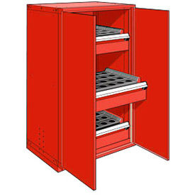 """3 Drawer Tool Storage Cabinet for HSK 50 - 36""""Wx24""""Dx60""""H Red"""