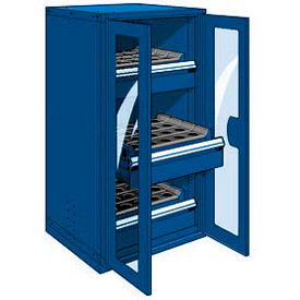 """3 Drawer Tool Storage Cabinet for 50 KM - 30""""Wx27""""Dx60""""H Avalanche Blue"""