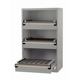 """3 Drawer Tool Storage Cabinet for 50 KM - 36""""Wx18""""Dx60""""H Light Gray"""