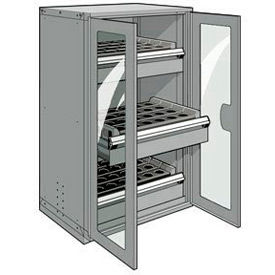 """3 Drawer Tool Storage Cabinet for 63 KM - 36""""Wx24""""Dx60""""H Light Gray"""