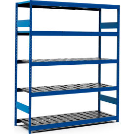 """5 Shelf High-Density Storage for Taper 50 - 72""""Wx24""""Dx87""""H Avalanche Blue"""