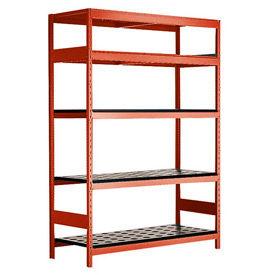 "5 Shelf High-Density Storage for HSK 63 - 72""Wx24""Dx87""H Red"