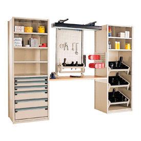 """Multipurpose Workstation for HSK 50 - 30""""Wx24""""Dx87""""H Beige"""