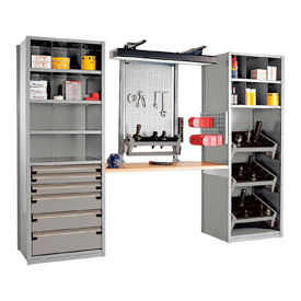 """Multipurpose Workstation for HSK 50 - 36""""Wx24""""Dx87""""H Light Gray"""