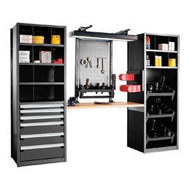"""Multipurpose Workstation for HSK 63 - 36""""Wx24""""Dx87""""H Black"""