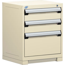 "Rousseau Metal Heavy Duty Modular Drawer Cabinet 3 Drawer Bench High 24""W - Beige"