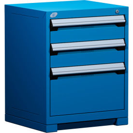 """Rousseau Metal Heavy Duty Modular Drawer Cabinet 3 Drawer Bench High 24""""W - Avalanche Blue"""