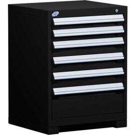 "Rousseau Metal Heavy Duty Modular Drawer Cabinet 6 Drawer Bench High 24""W - Black"