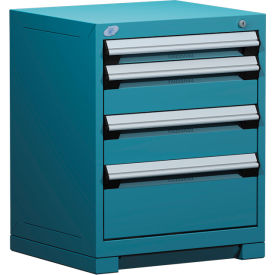 """Rousseau Metal Heavy Duty Modular Drawer Cabinet 5 Drawer Counter High 24""""W - Everest Blue"""