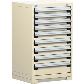 "Rousseau Metal Heavy Duty Modular Drawer Cabinet 9 Drawer Counter High 24""W - Beige"