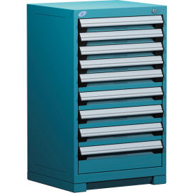 """Rousseau Metal Heavy Duty Modular Drawer Cabinet 9 Drawer Counter High 24""""W - Everest Blue"""