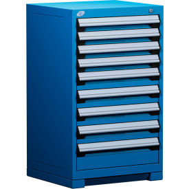 """Rousseau Metal Heavy Duty Modular Drawer Cabinet 9 Drawer Counter High 24""""W - Avalanche Blue"""