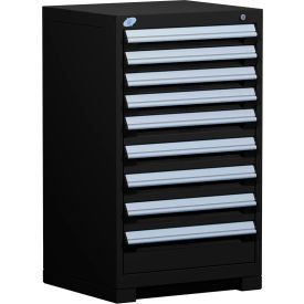 "9 Drawer Counter High 24""W Heavy-Duty Cabinet - Black"
