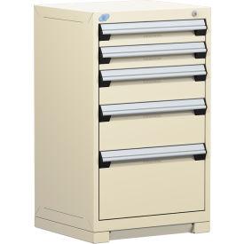 "Rousseau Metal Heavy Duty Modular Drawer Cabinet 5 Drawer Counter High 24""W - Beige"