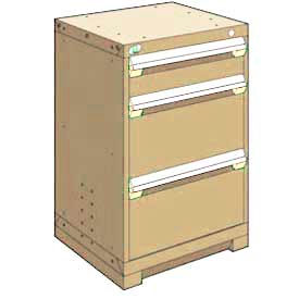 "Rousseau Metal Heavy Duty Modular Drawer Cabinet 3 Drawer Counter High 24""W - Beige"