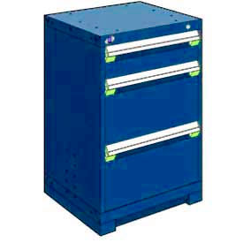 """Rousseau Metal Heavy Duty Modular Drawer Cabinet 3 Drawer Counter High 24""""W - Avalanche Blue"""