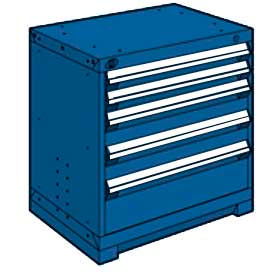 """Rousseau Metal Heavy Duty Modular Drawer Cabinet 5 Drawer Bench High 30""""W - Avalanche Blue"""