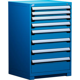 """Rousseau Metal Heavy Duty Modular Drawer Cabinet 8 Drawer Counter High 30""""W - Avalanche Blue"""