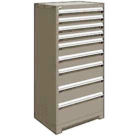"Rousseau Metal Heavy Duty Modular Drawer Cabinet 9 Drawer Full Height 30""W - Light Gray"