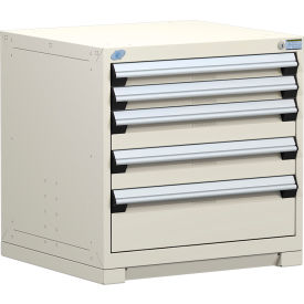 "Rousseau Metal Heavy Duty Modular Drawer Cabinet 5 Drawer Bench High 30""W - Beige"