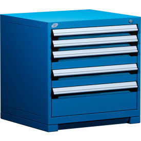 "Rousseau Metal Heavy Duty Modular Drawer Cabinet 5 Drawer Bench High 30""W - Avalanche Blue"