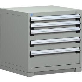 "Rousseau Metal Heavy Duty Modular Drawer Cabinet 5 Drawer Bench High 30""W - Light Gray"