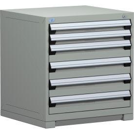 "Rousseau Metal Heavy Duty Modular Drawer Cabinet 6 Drawer Bench High 30""W - Light Gray"