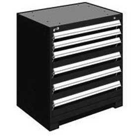 "Rousseau Metal Heavy Duty Modular Drawer Cabinet 6 Drawer Bench High 30""W - Black"