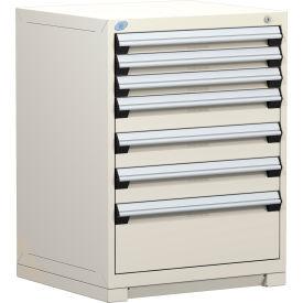 "Rousseau Metal Heavy Duty Modular Drawer Cabinet 7 Drawer Counter High 30""W - Beige"