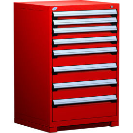 """Rousseau Metal Heavy Duty Modular Drawer Cabinet 8 Drawer Counter High 30""""W - Red"""