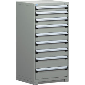 "Rousseau Metal Heavy Duty Modular Drawer Cabinet 9 Drawer Full Height 30""W - Light Gray"