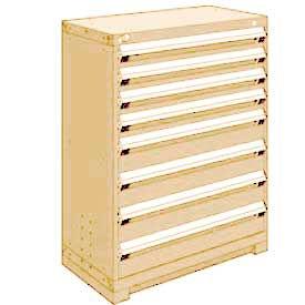 "Rousseau Metal Heavy Duty Modular Drawer Cabinet 8 Drawer Counter High 36""W - Beige"