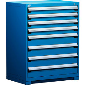 """Rousseau Metal Heavy Duty Modular Drawer Cabinet 8 Drawer Counter High 36""""W - Avalanche Blue"""