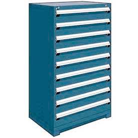 "Rousseau Metal Heavy Duty Modular Drawer Cabinet 9 Drawer Full Height 36""W - Everest Blue"