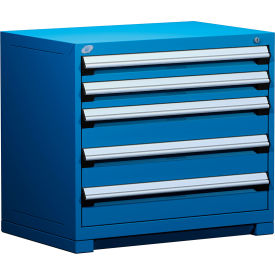 """Rousseau Metal Heavy Duty Modular Drawer Cabinet 5 Drawer Bench High 36""""W - Avalanche Blue"""