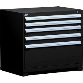 "Rousseau Metal Heavy Duty Modular Drawer Cabinet 5 Drawer Bench High 36""W - Black"