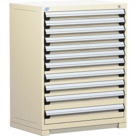 "Rousseau Metal Heavy Duty Modular Drawer Cabinet 11 Drawer Counter High 36""W - Beige"