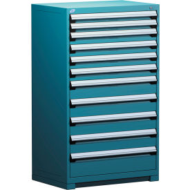 "Rousseau Metal Heavy Duty Modular Drawer Cabinet 11 Drawer Full Height 36""W - Everest Blue"