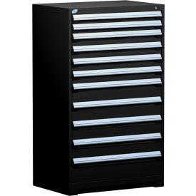 "Rousseau Metal Heavy Duty Modular Drawer Cabinet 11 Drawer Full Height 36""W - Black"