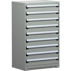 "Rousseau Metal Heavy Duty Modular Drawer Cabinet 9 Drawer Full Height 36""W - Light Gray"